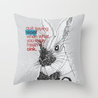 politics Throw Pillows featuring Politics by YONIL