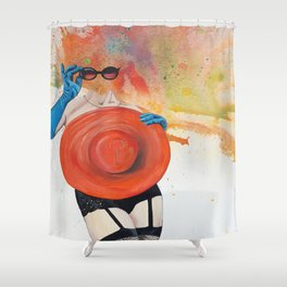 Lefty Lucy Shower Curtain