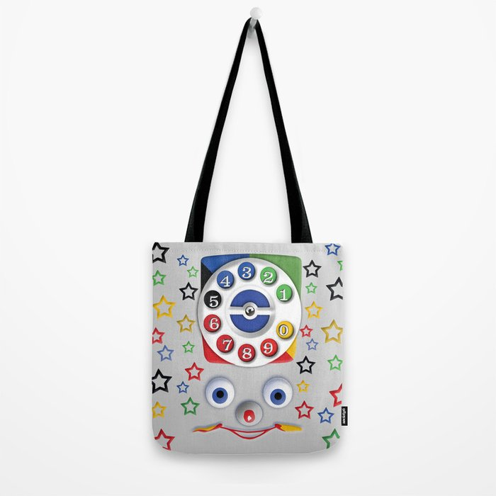Retro Vintage smiley kids Toys Dial Phone iPhone 4 4s 5 5s 5c, ipod, ipad, pillow case and tshirt Tote Bag