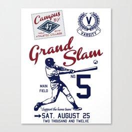 Varsity Baseball Team - Grand Slam Canvas Print