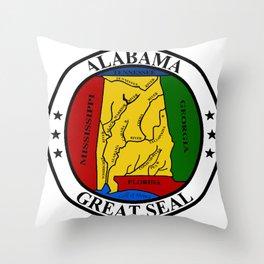 Alabama State Seal Throw Pillow