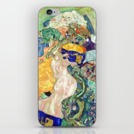 "Gustav Klimt ""Baby (Cradle)"" iPhone Skin"
