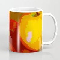 apple Mugs featuring Apple by Mr and Mrs Quirynen
