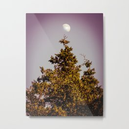 Arabesque Moon and Tree Metal Print