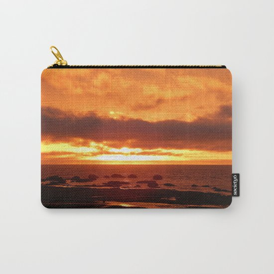 Skies of Fury at Sunset Carry-All Pouch