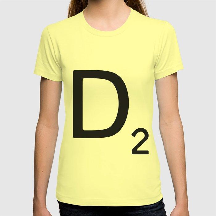 Letter D - Custom Scrabble Letter Wall Art - Scrabble D T-shirt by ...