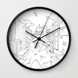 downtown8 Wall Clock