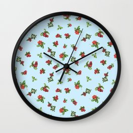 Cranberries blue background Wall Clock