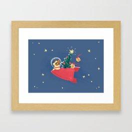 Laika Christmas Framed Art Print