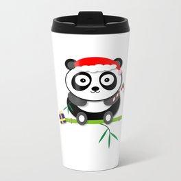 Holiday Panda Metal Travel Mug