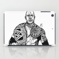 allyson johnson iPad Cases featuring Dwayne 'The Rock' Johnson by Hollie B