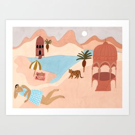 Desert Beach Art Print