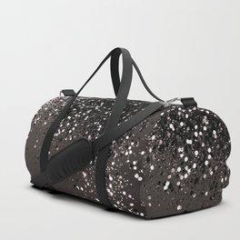 Blush Gray Black Lady Glitter #2 #shiny #decor #art #society6 Duffle Bag