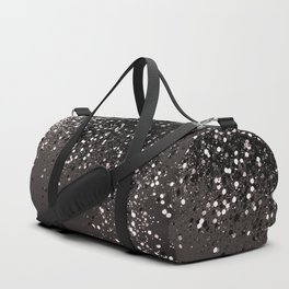 Blush Gray Black Lady Glitter #2 #shiny #decor #art #society6 Duffle Bag