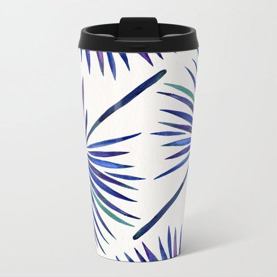 Tropical Fan Palm – Indigo Metal Travel Mug