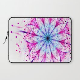 Winter Pink glittered Snowflake Laptop Sleeve