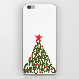 CHRISTMAS TREE TYPE iPhone Skin