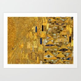 All the World is Gold symbolist portrait painting by Gustav Klimt Art Print