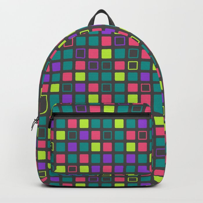 Night On The Town Square Pattern Backpack