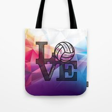 For the Love of Volleyball Tote Bag