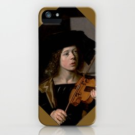 "Frans Hals ""The violinist"" iPhone Case"