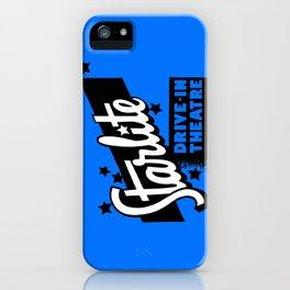 Starlite Drive-In Niagara Falls in Blue iPhone Case