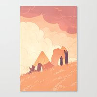 book cover Canvas Prints featuring Art book cover by Natalie Nourigat