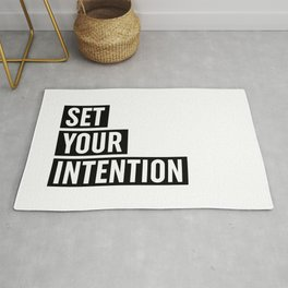 Set Your Intention Rug