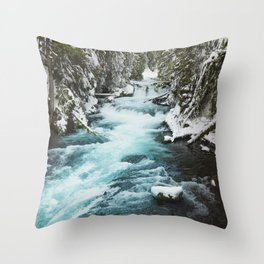 The Wild McKenzie River - Nature Photography Throw Pillow