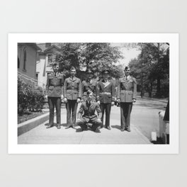 ROTC Students Art Print