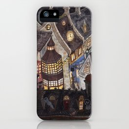 Roofs of magic town iPhone Case