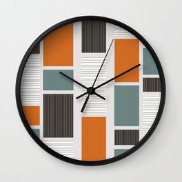 Mid Century Modern Panels Wall Clock