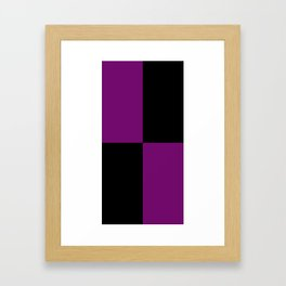 Psychedelic black and purple XIII. Framed Art Print