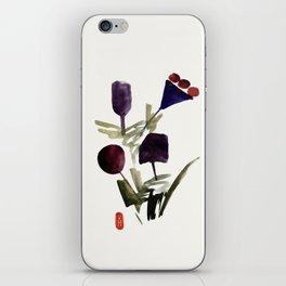 Bouquet de violettes iPhone Skin