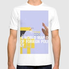 A World Map of Foreign Policy (book jacket cover) Mens Fitted Tee MEDIUM White