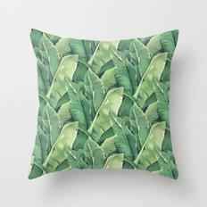 Banana leaves IV Throw Pillow