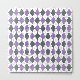 Purple: Argyle Pattern Metal Print