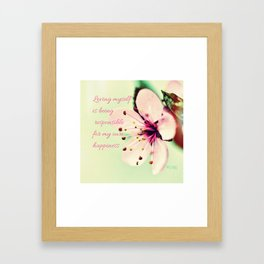 Love Yourself My Happiness Framed Art Print