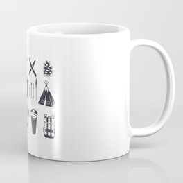 Bushcraft Icons and Hiking Symbols Coffee Mug