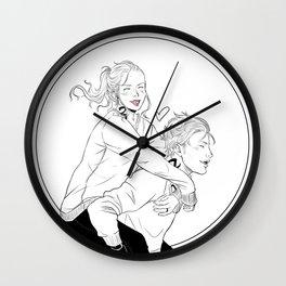 Clary & Jace Wall Clock