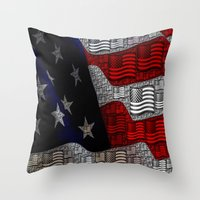 american Throw Pillows featuring American by Tracy66