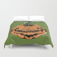 pumpkin Duvet Covers featuring Pumpkin by Kape