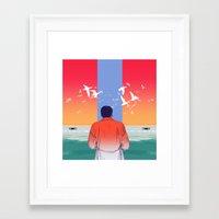 sopranos Framed Art Prints featuring ducks by VPUVWV