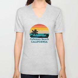Coleman Beach CALIFORNIA Unisex V-Neck