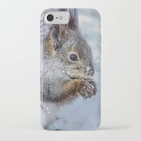 squirrel iPhone & iPod Cases featuring Squirrel by Svetlana Korneliuk
