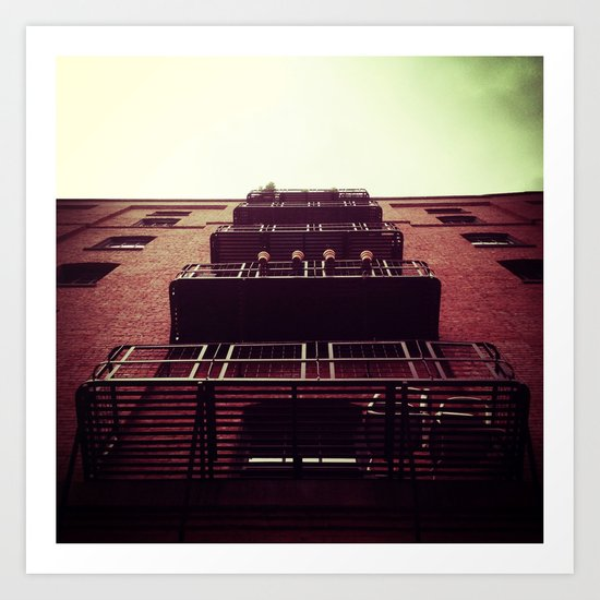 LOOKING UP IN DOWNTOWN PORTLAND, OR Art Print