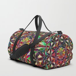 Flower of Life variation Duffle Bag