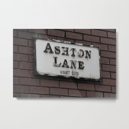 Ashton Lane, West End, Glasgow Metal Print