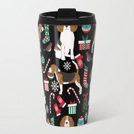 Beagle christmas gift wrap pillow phone case cute beagle dog design Travel Mug