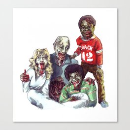 Zom'bies Strokes Canvas Print